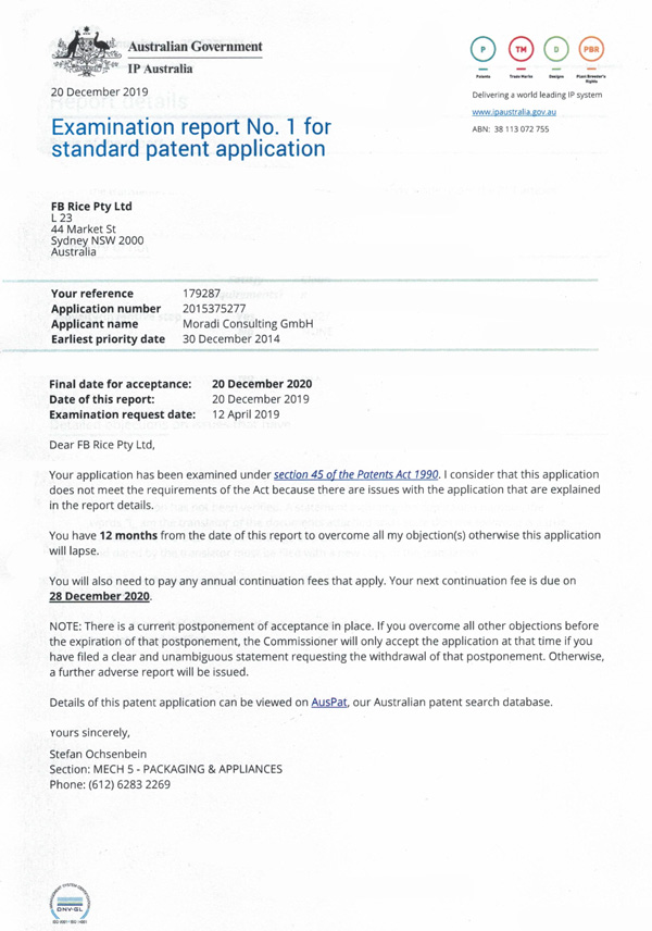 Patent-Australien